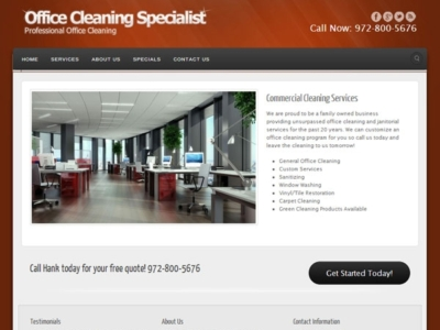 Office Cleaning Specialist