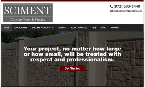 Sciment Concrete Walls & Fencing