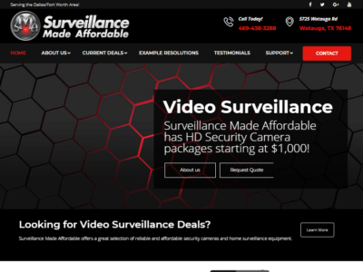 Surveillance Made Affordable