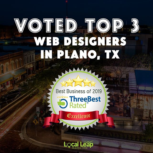 Local Leap Voted Top 3 Web Designers in Plano